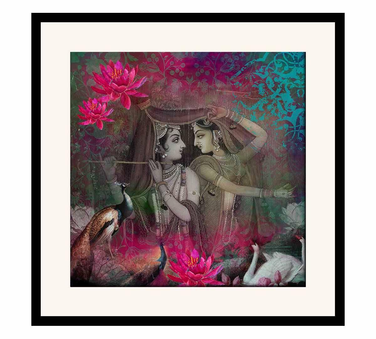 India Circus Radha & Krishna Framed Wall Art