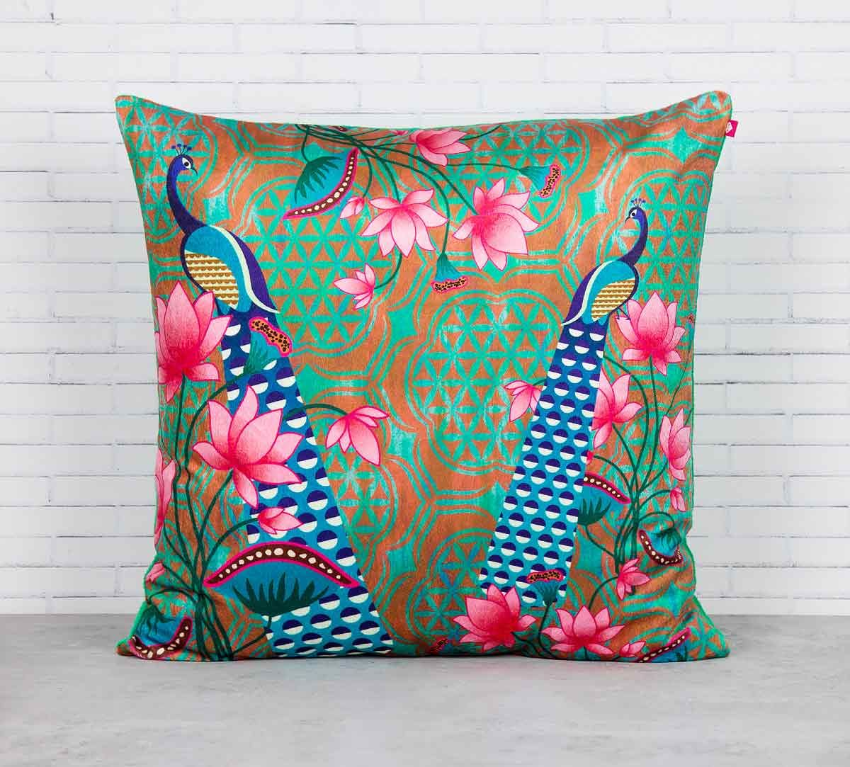 India Circus Realm of Pride Blended Velvet Cushion Cover