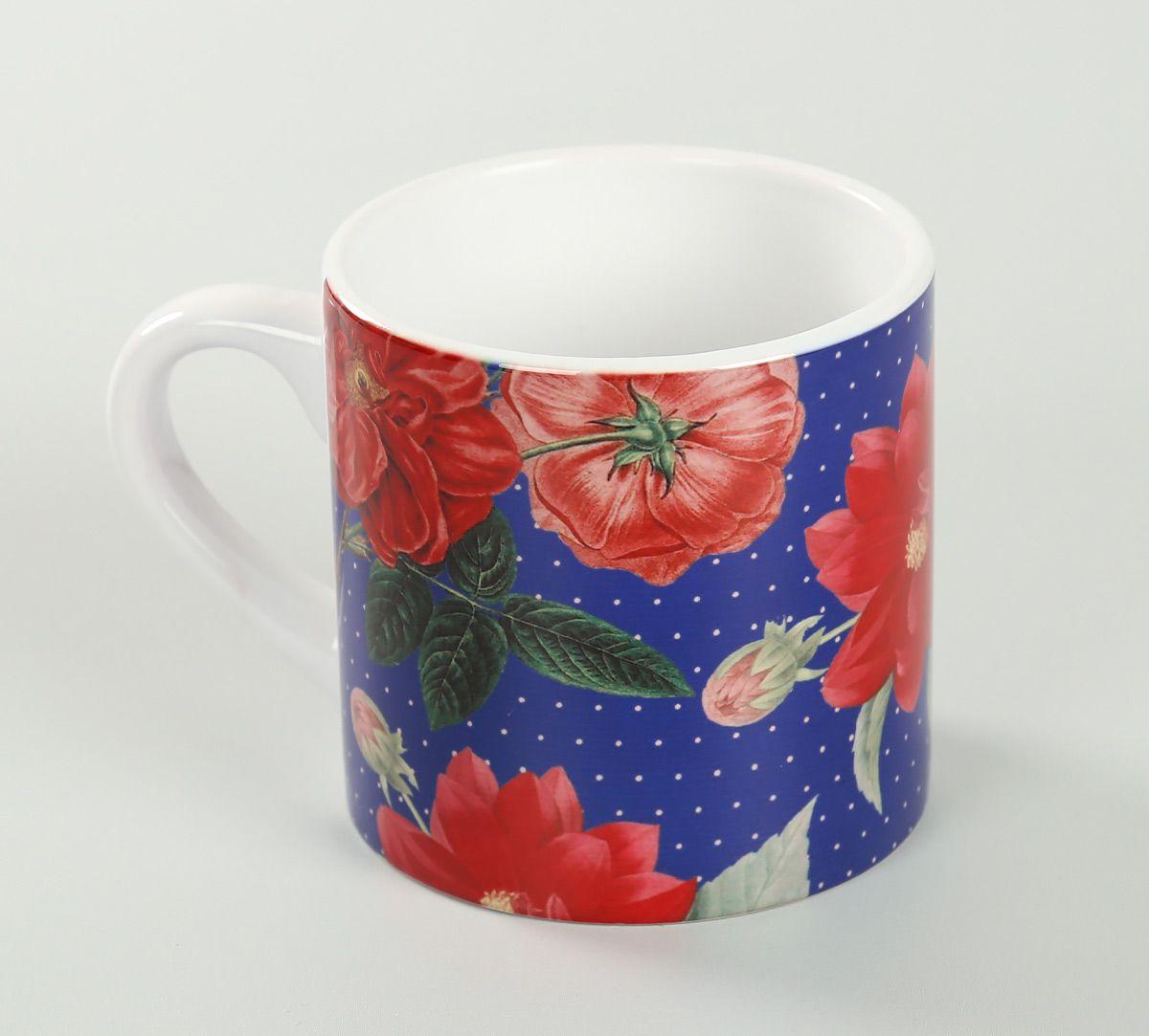 India Circus Red Blooms Espresso Mug