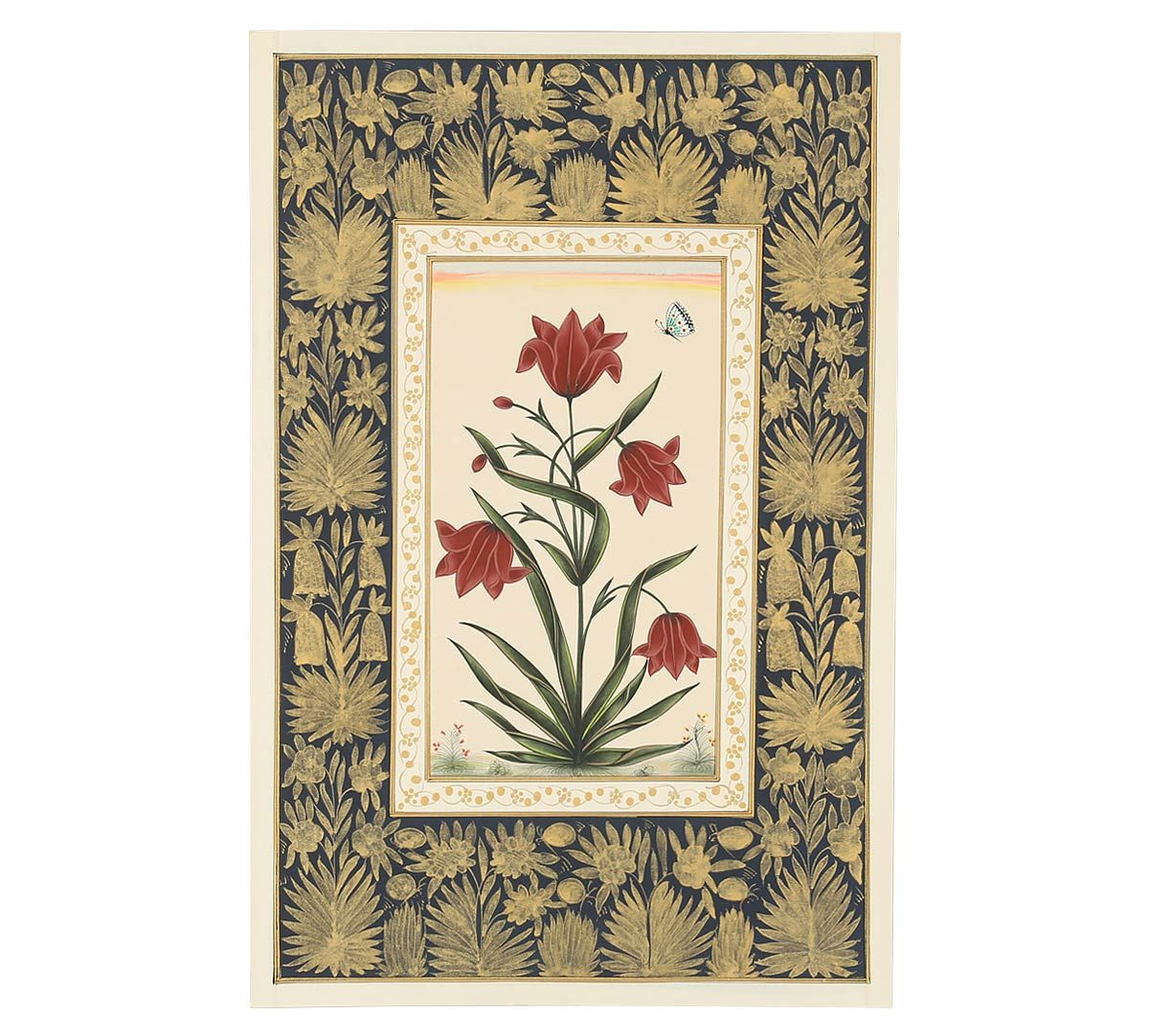 India Circus Red Tulip Handmade Poster