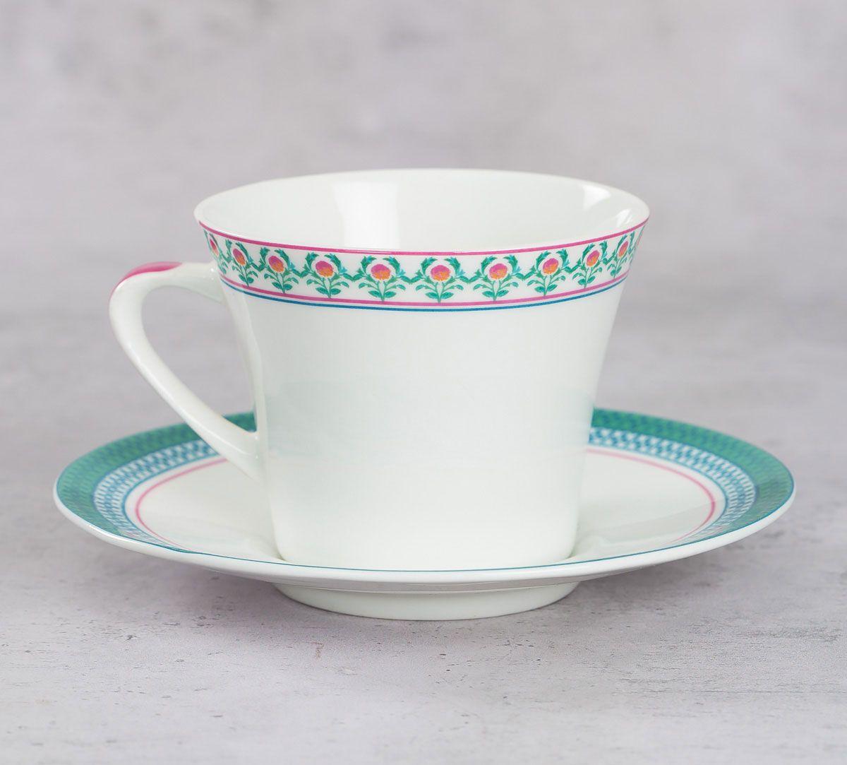 India Circus Rose Creeper Cup & Saucer