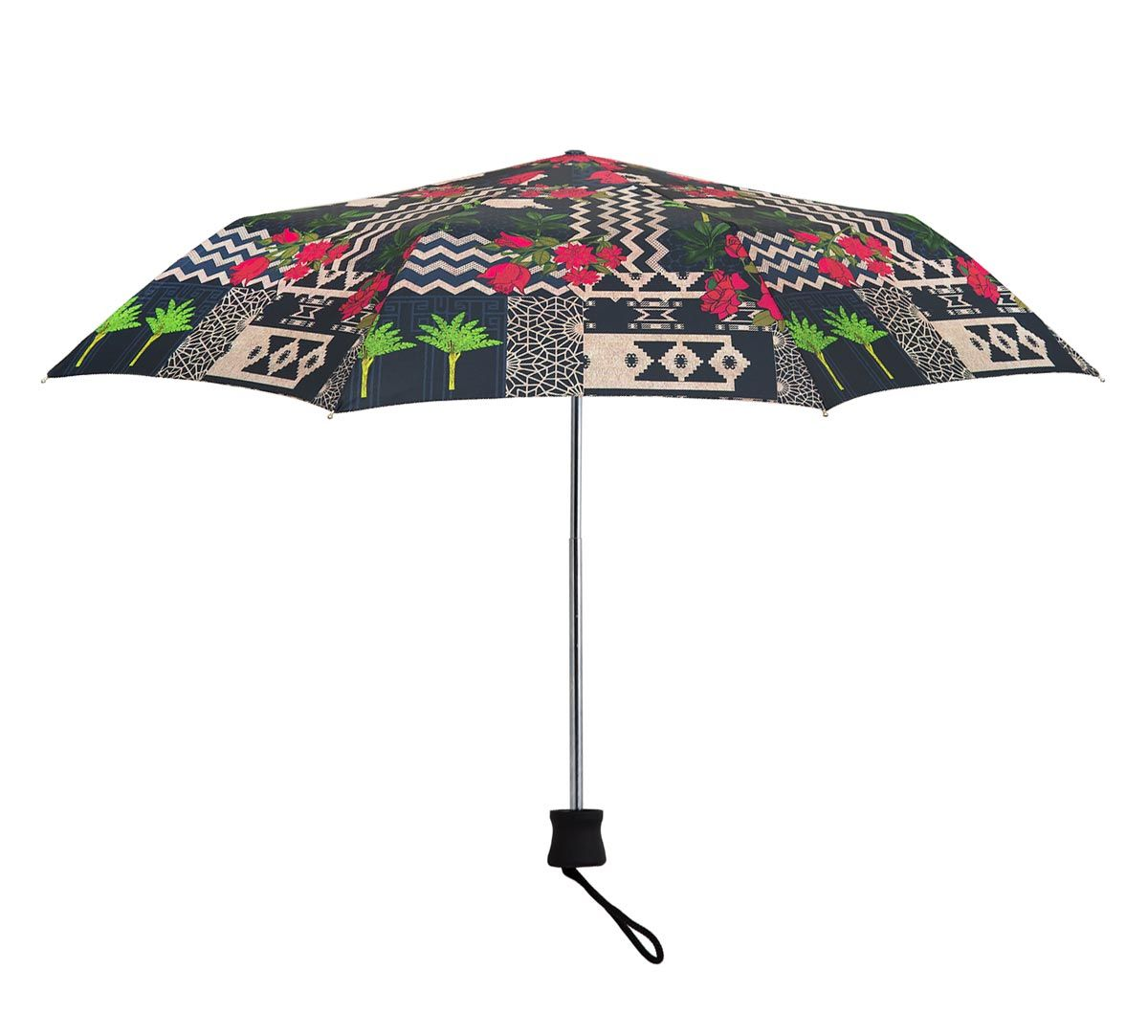 India Circus Rose Garden Maze 3 Fold Umbrella