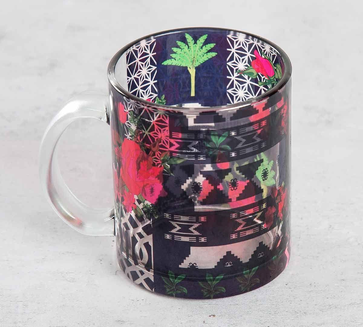 India Circus Rose Garden Maze Glass Coffee Mug