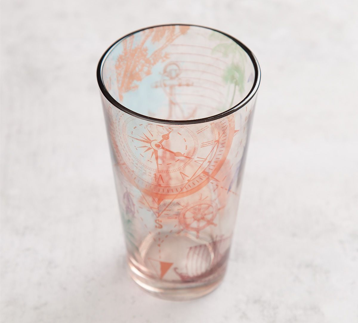 India Circus Rovers of Moana Glass Tumbler