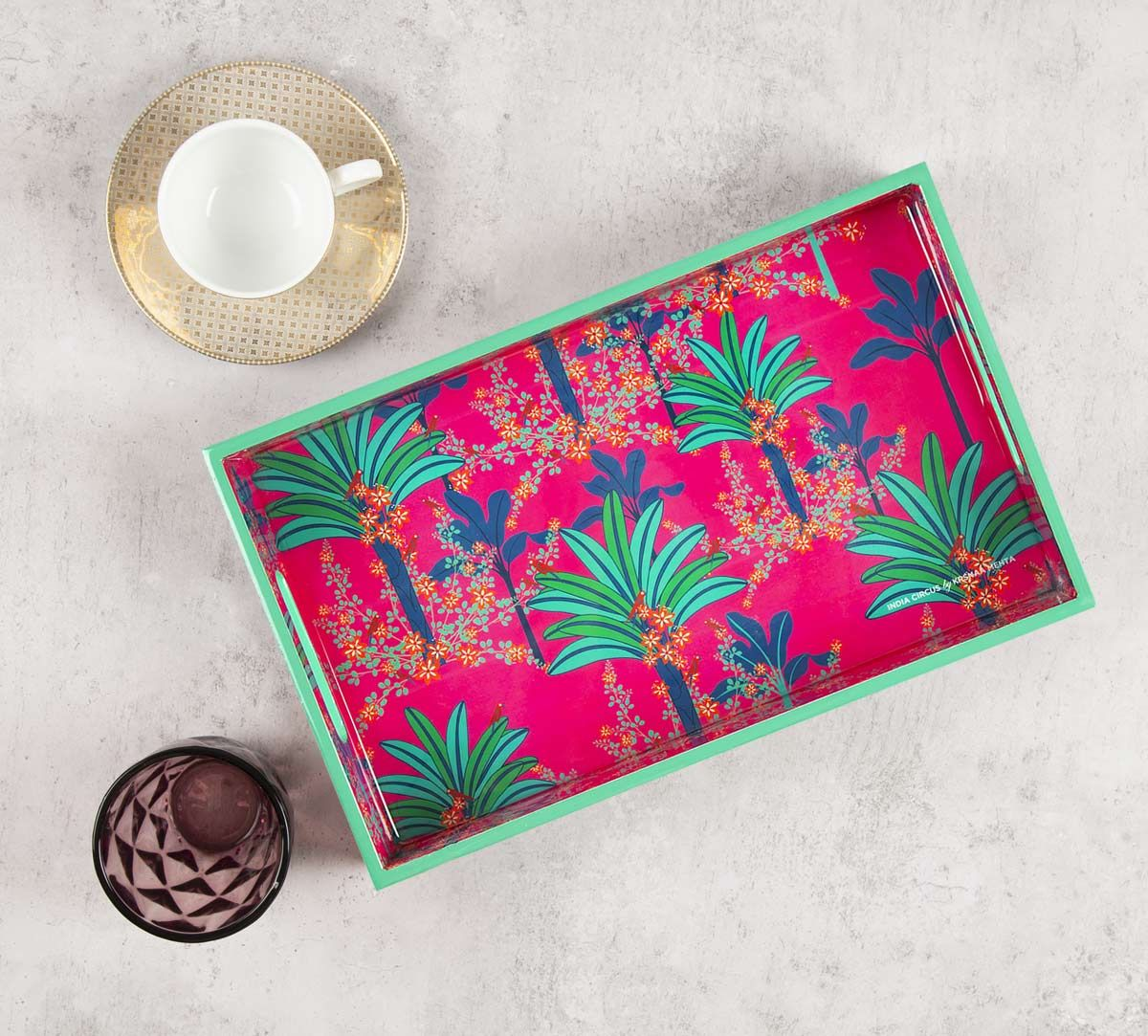 India Circus Royal Palms Rectangle Serving Tray