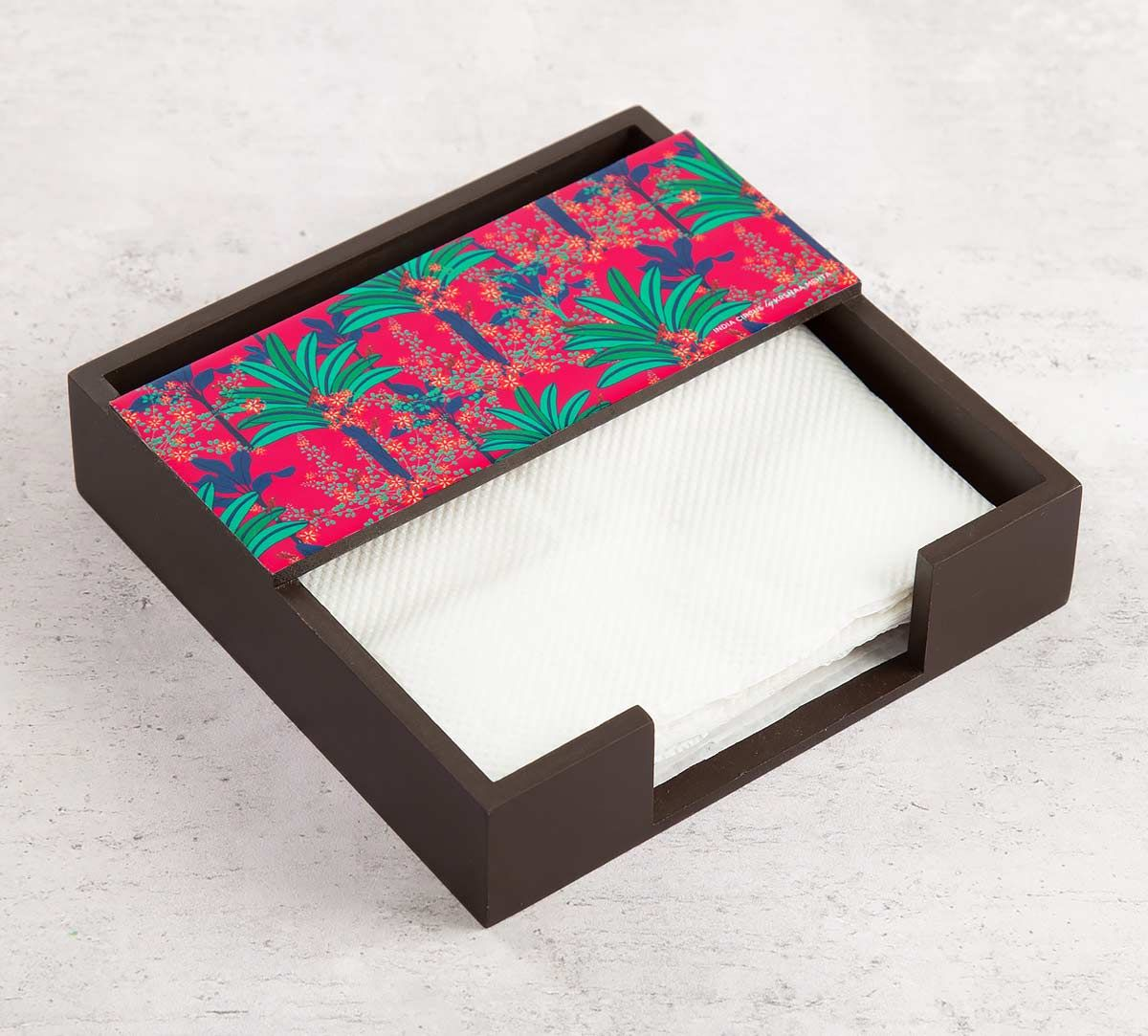 India Circus Royal Palms Tissue Holder