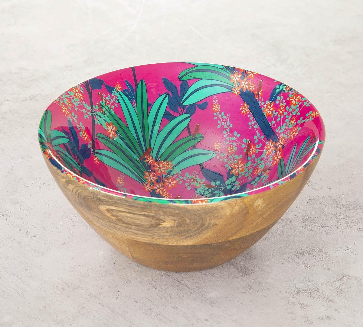 India Circus Royal Palms Wooden Bowl