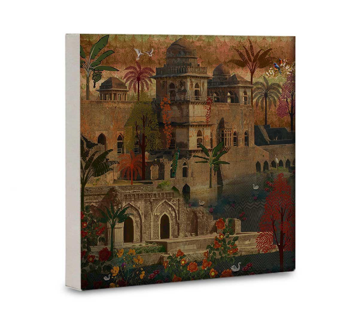 India Circus Ship Palace 16x16 and 24x24 Canvas Wall Art