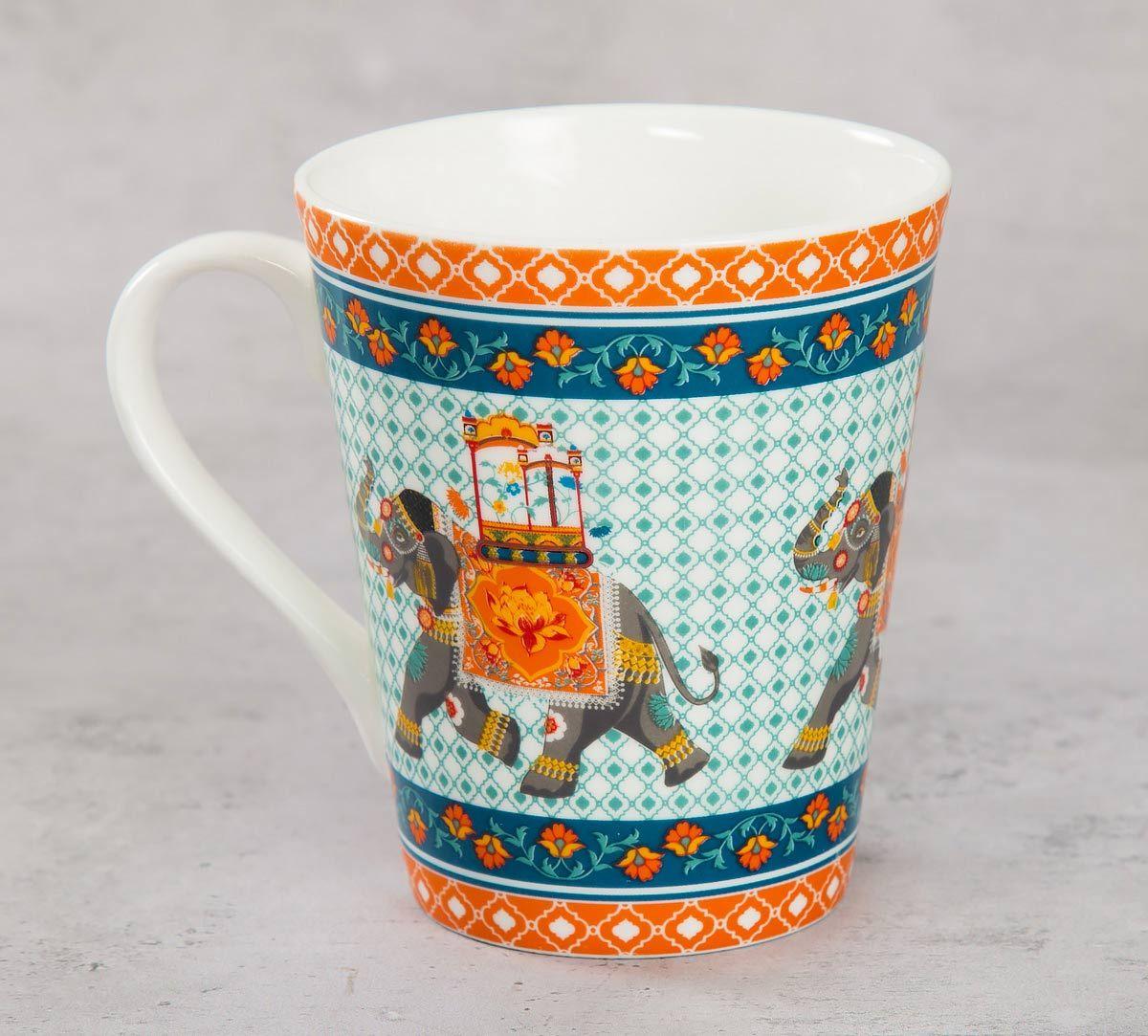 India Circus Swirling Safari Zing Mug (Set of 2)