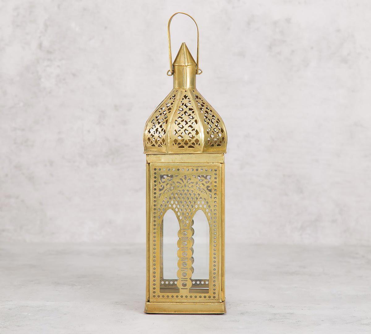 India Circus Tall Iron Candle Lantern