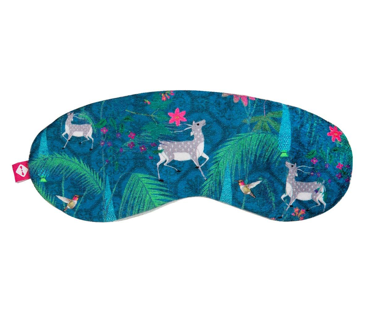 India Circus Teal Forest Fetish Eye Mask