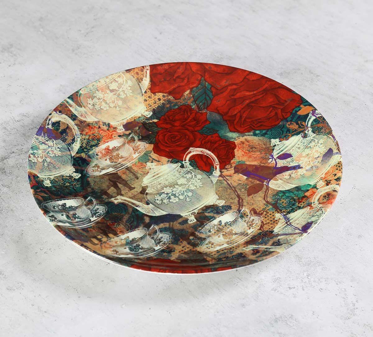 India Circus Teapot Jungle Decor Plate