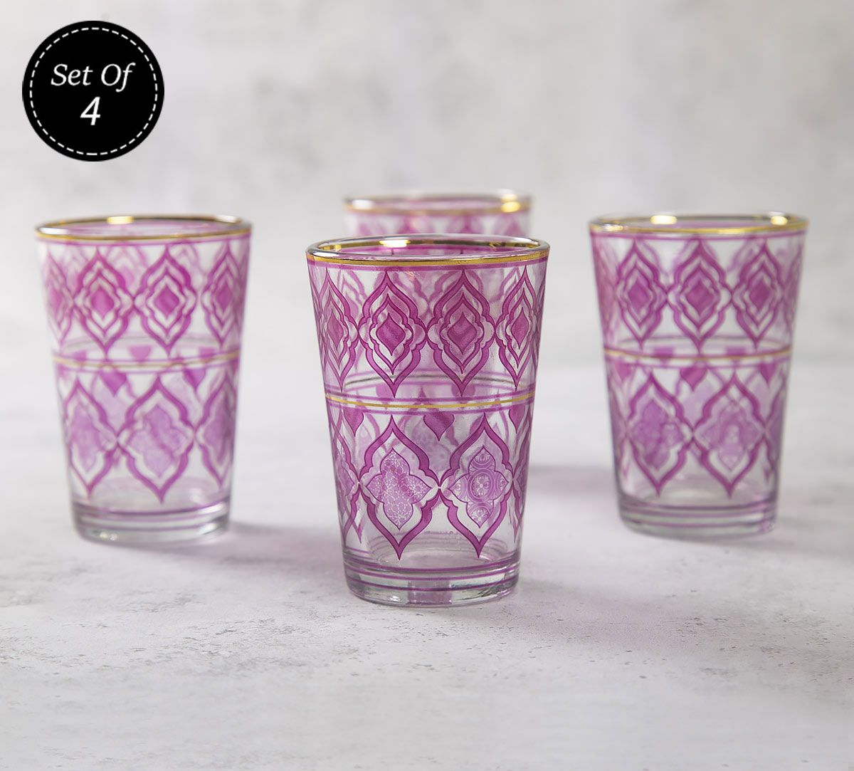 India Circus The Morning Glory Chai Glass (Set of 4)