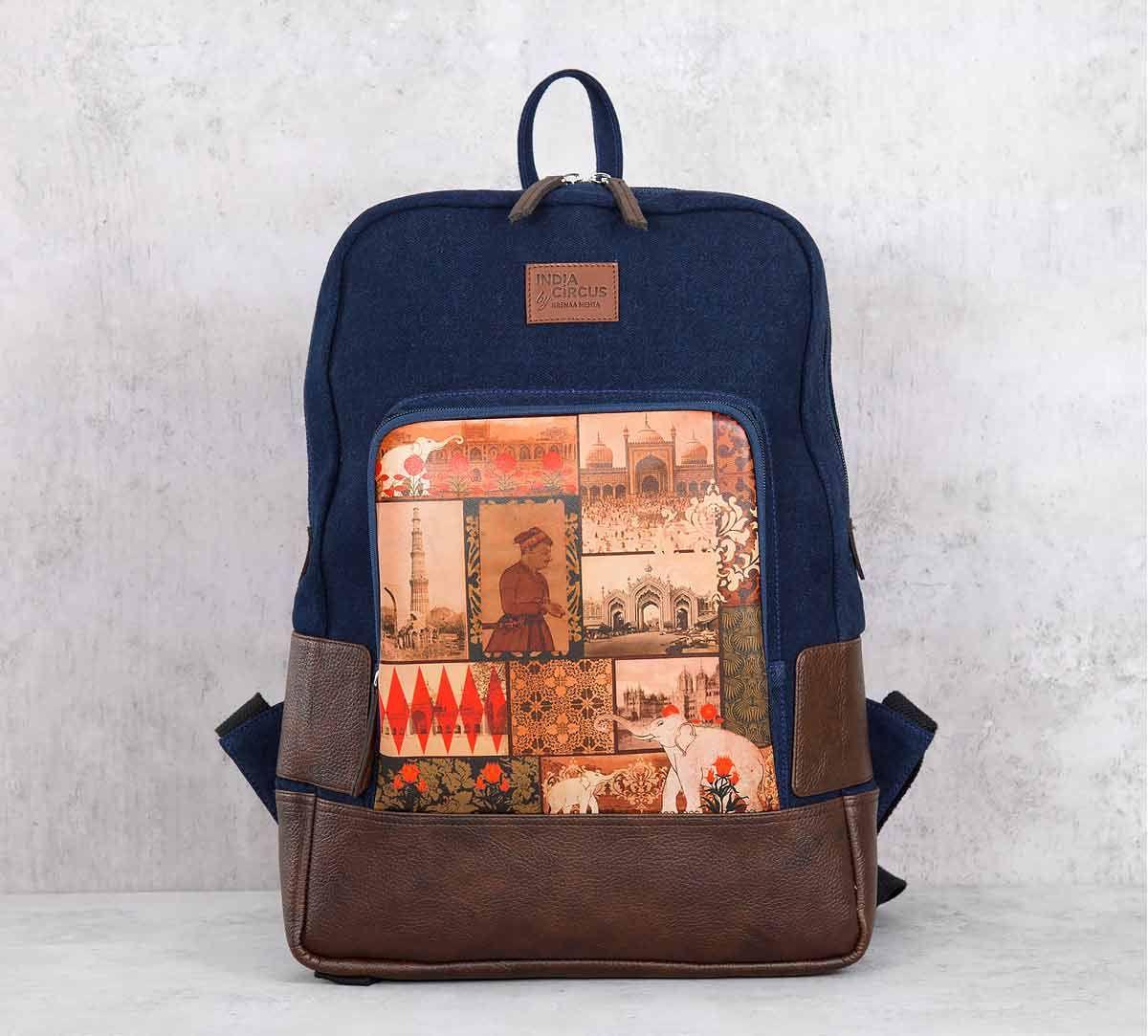 India Circus The Mughal Era Denim Backpack