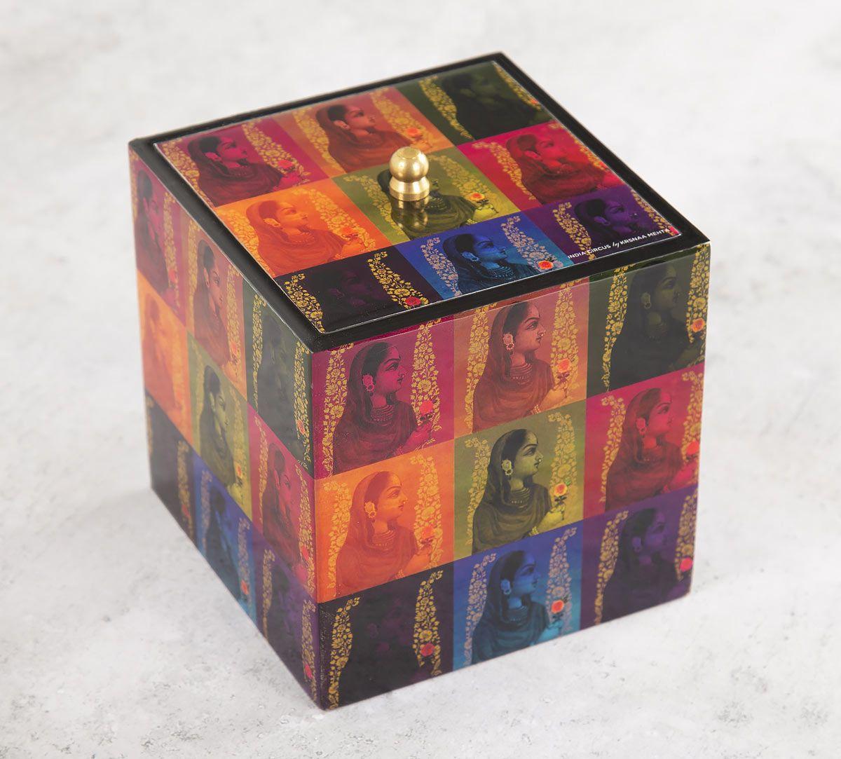India Circus Tinted Queen Square Storage Box