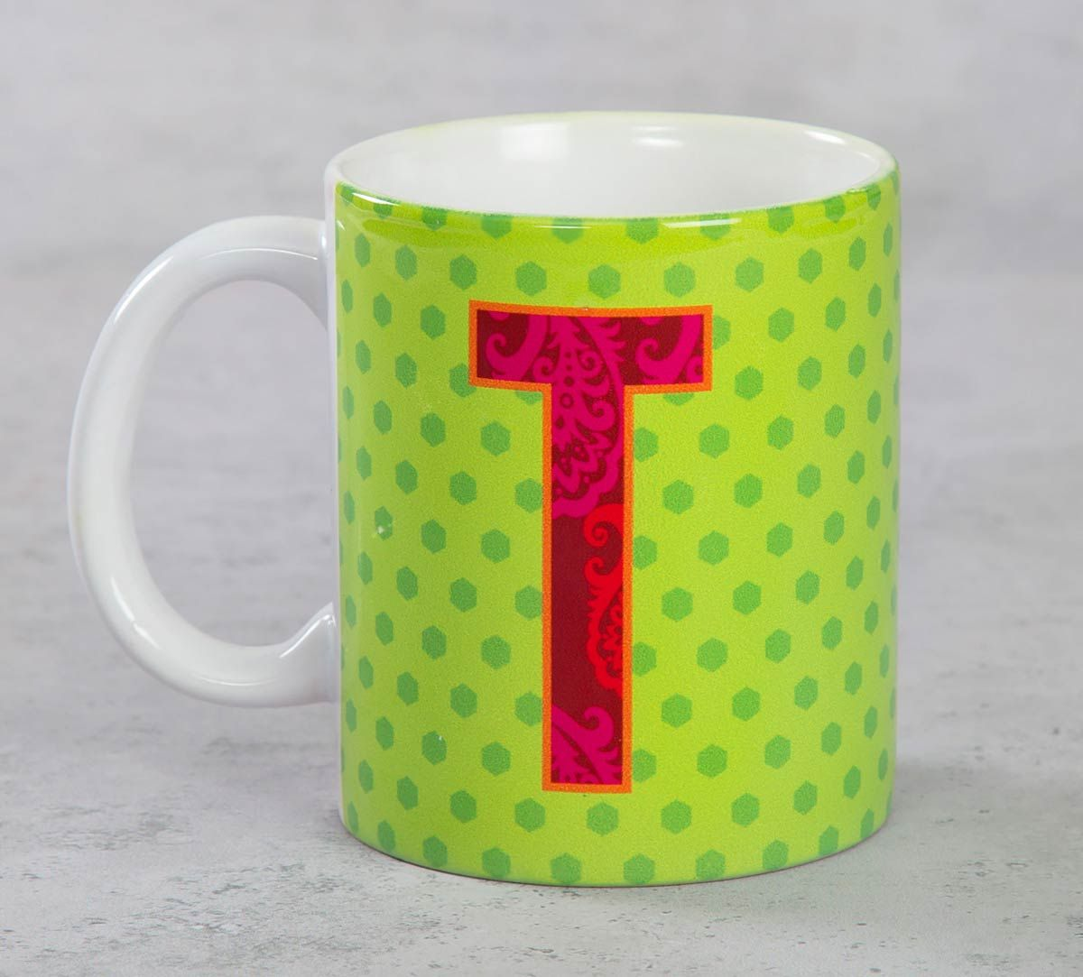 India Circus Topnotch Alphabet T Mug