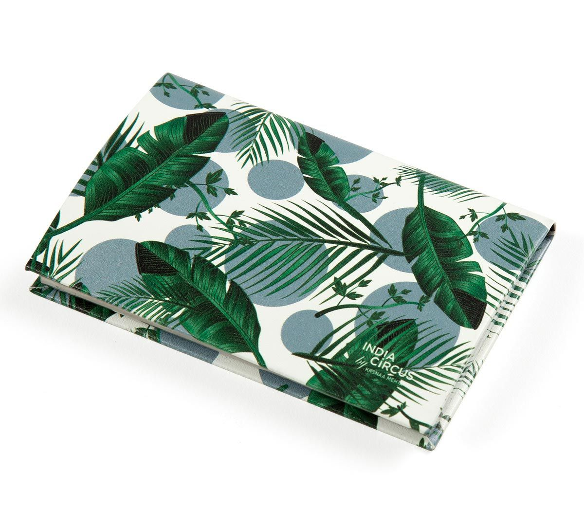 India Circus Tropical Leaves Visiting Card Holder
