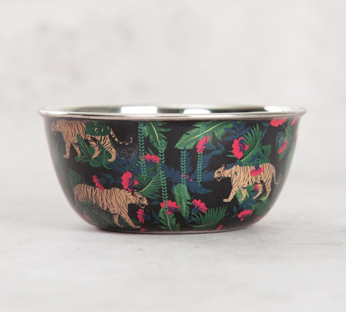 India Circus Tropical Tiger Steel Katori
