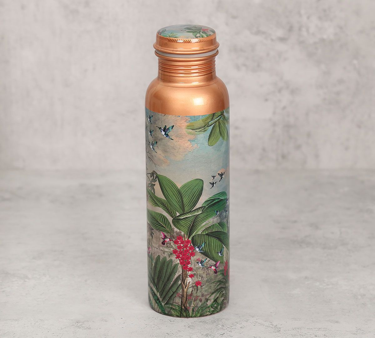 India Circus Tropical View Copper Bottle