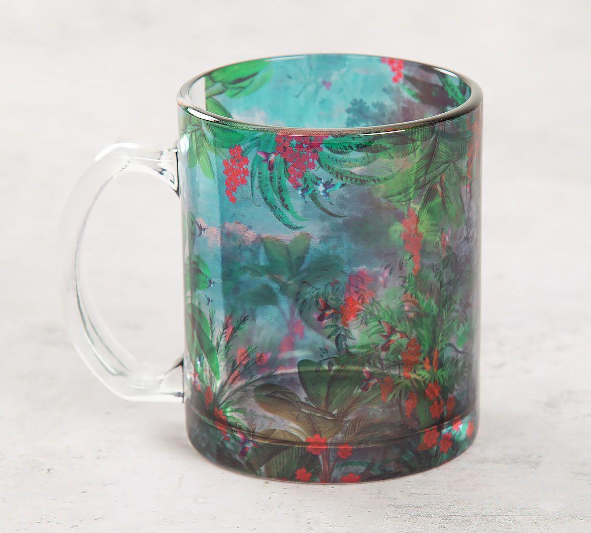 India Circus Tropical View Glass Mug