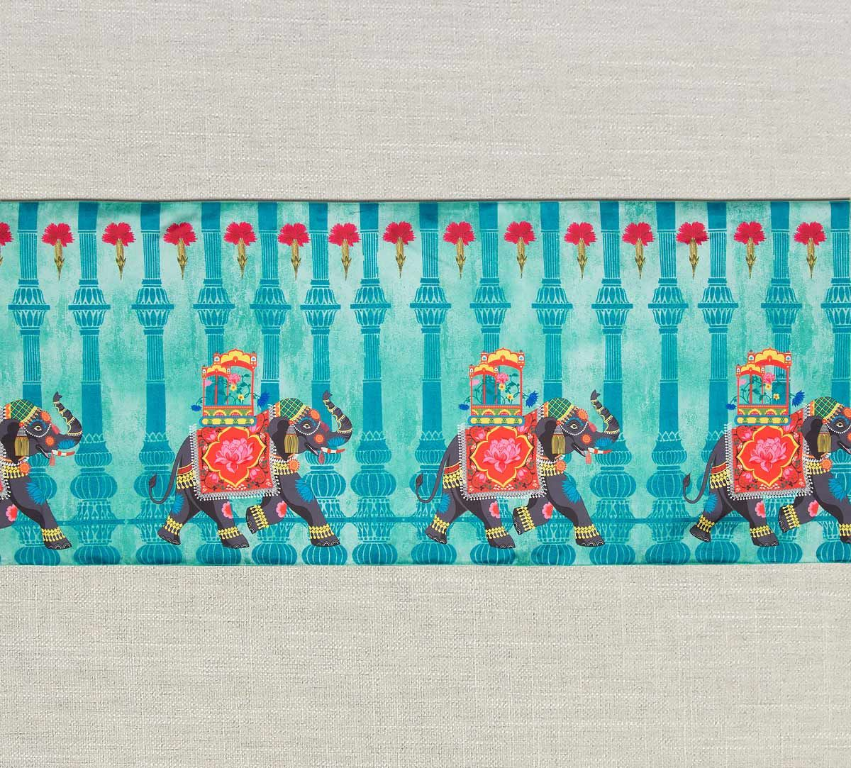 India Circus Tusker Chariot Bed and Table Runner