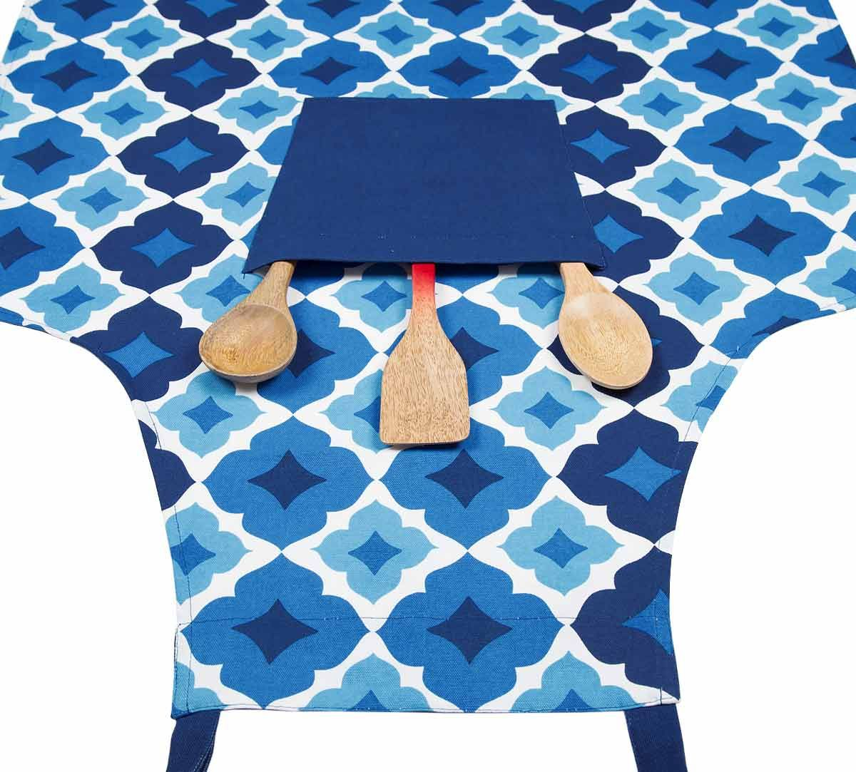 India Circus Ultramarine Tracery Kitchen Apron