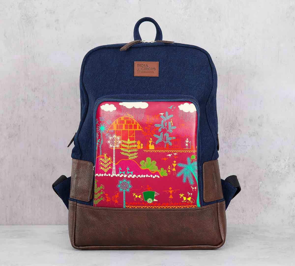 India Circus Village Reverie Denim Backpack