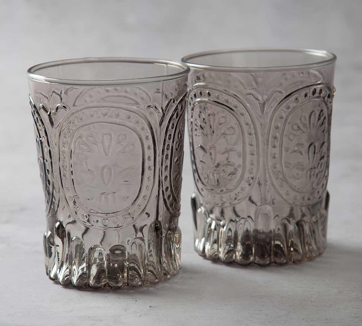 India Circus Vintage Glass Tumbler (Set of 2)