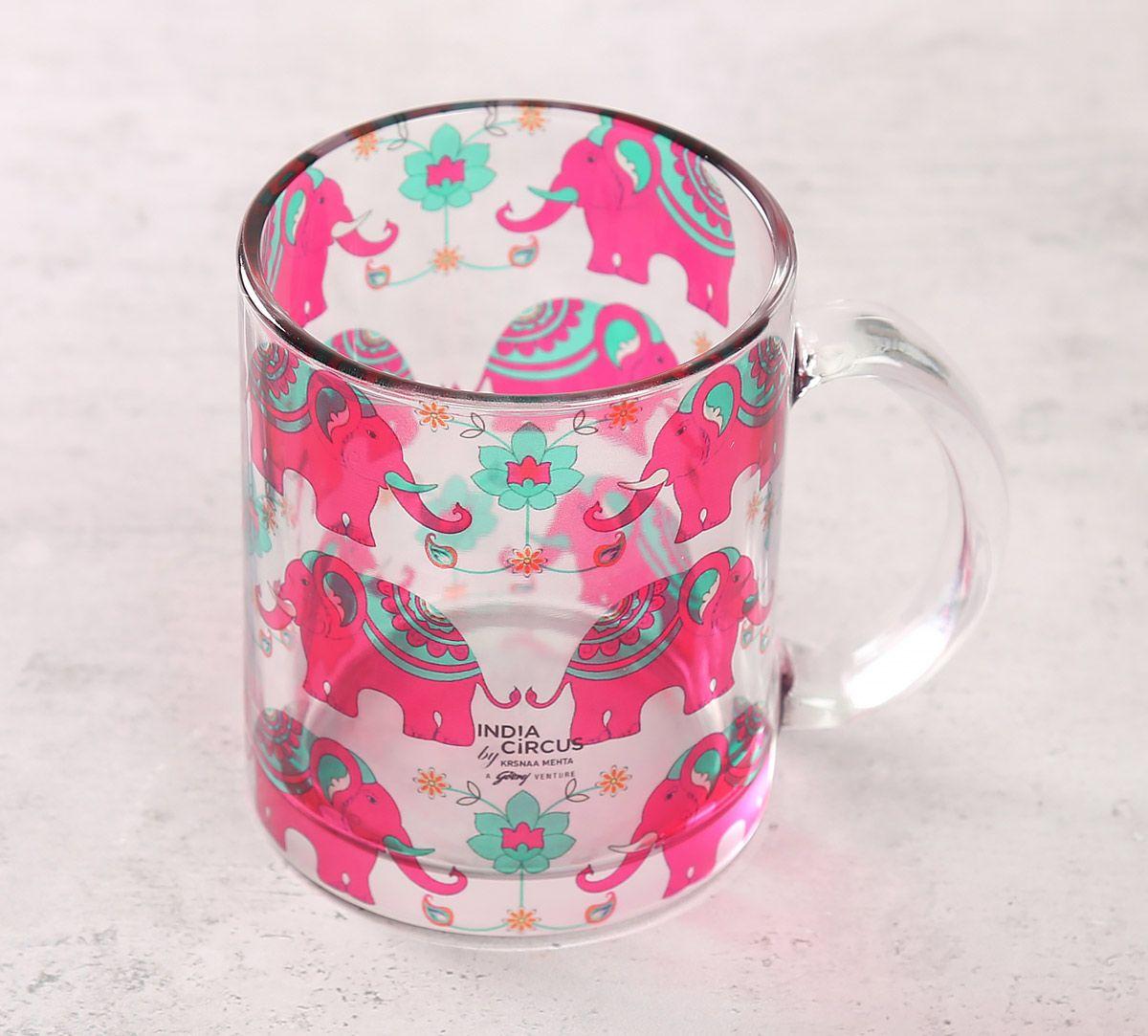 India Circus Violet Mastodon's Jamboree Glass Mug