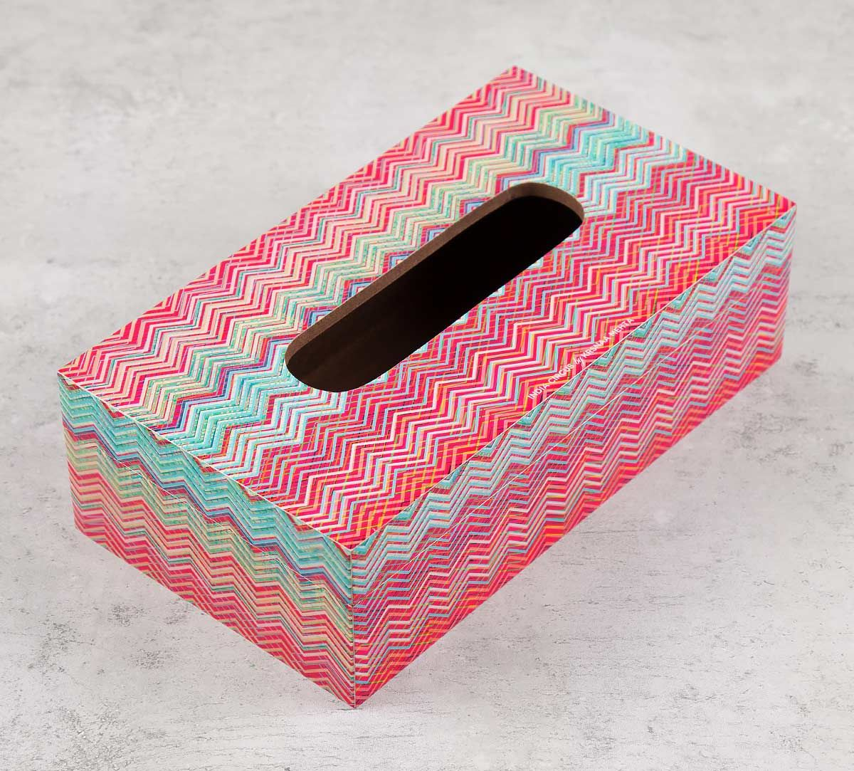 India Circus Waves of Chevron Tissue Box Holder