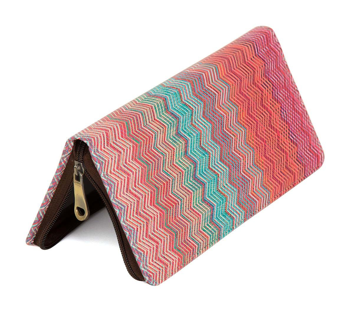 India Circus Waves of Chevron Travel Wallet