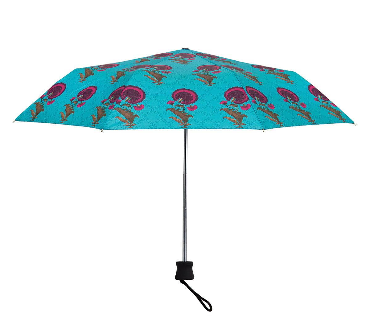 India Circus Yale Flower Regalia 3 Fold Umbrella