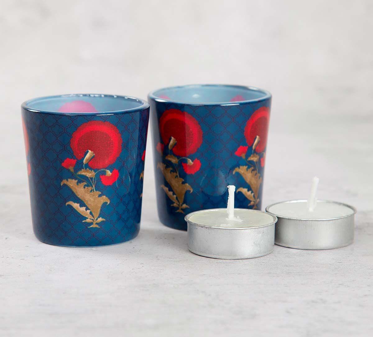 India Cirucs Flower Regalia Tea Light Holder Set of 2