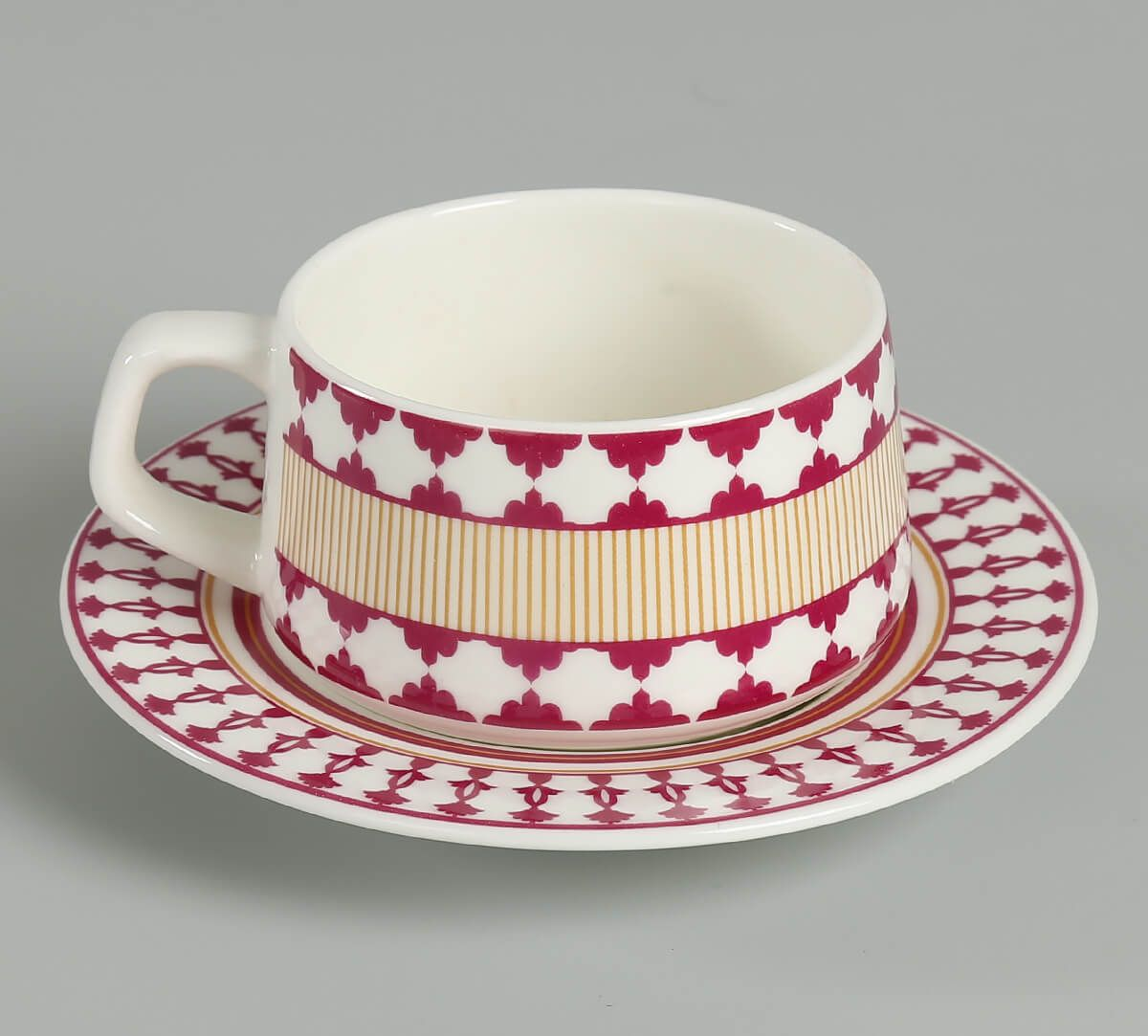 India Cirucs verdure mystery Cup and Saucer (Set of 6)