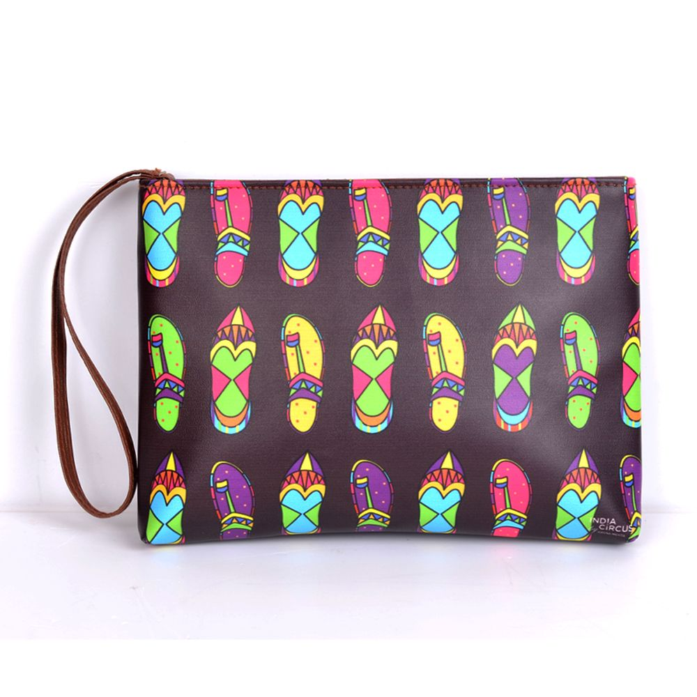 Jalebi Funky Slippers Utility Pouch