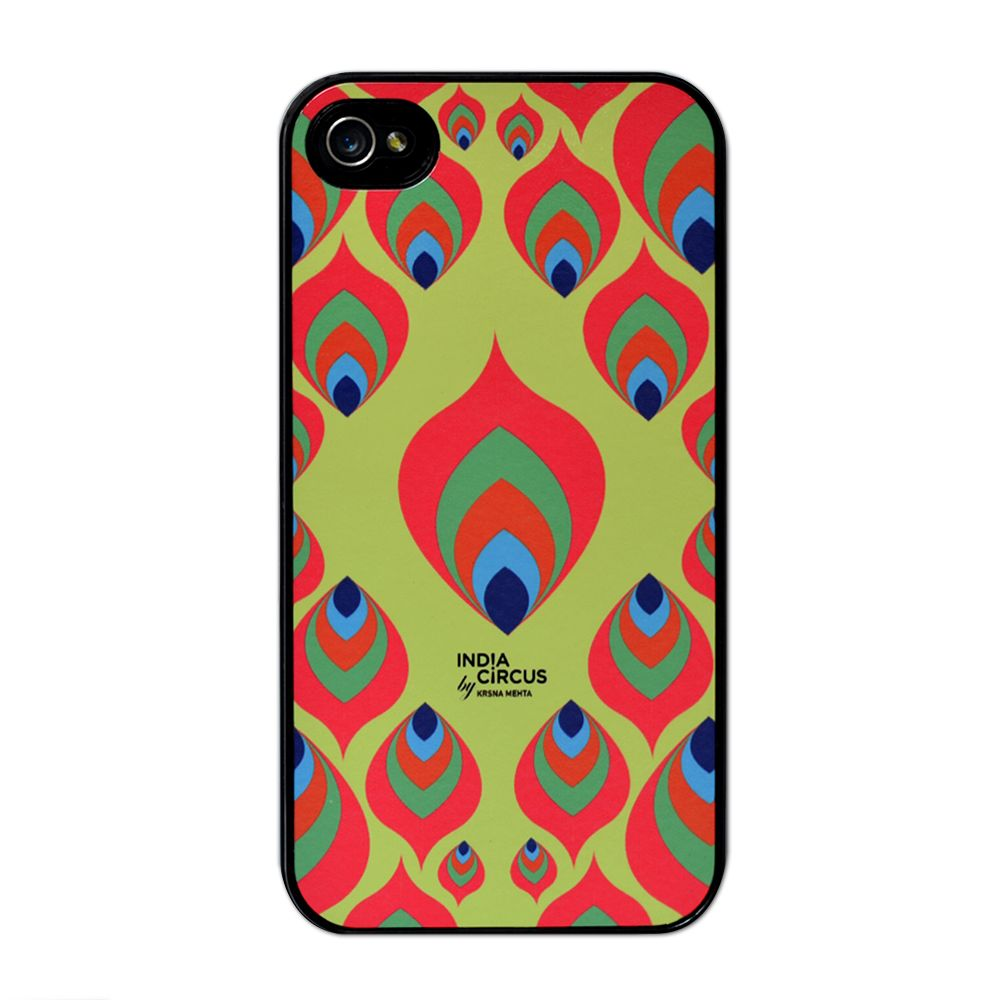Jalebi Multi-coloured Leaf Motif iPhone 4/4s case