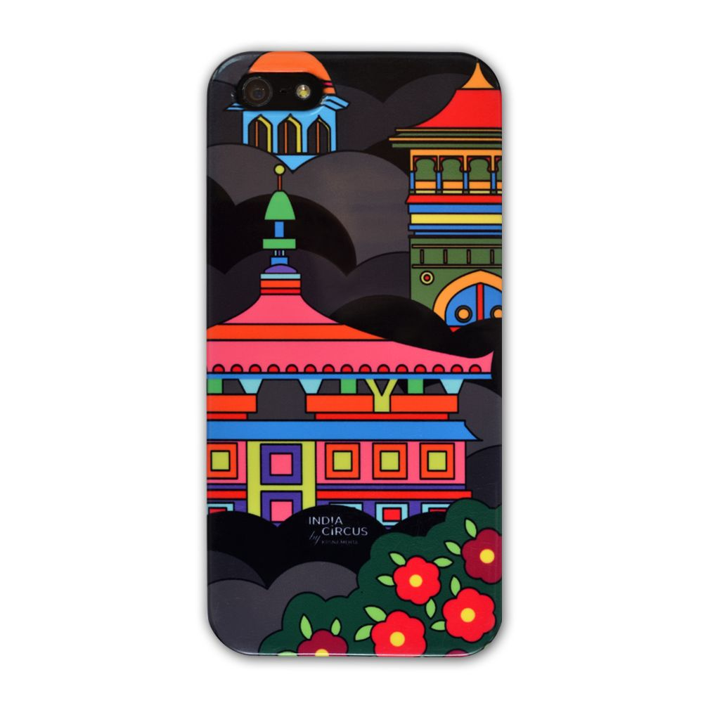 Jalebi Namaste Black Sky-line iPhone 5 case