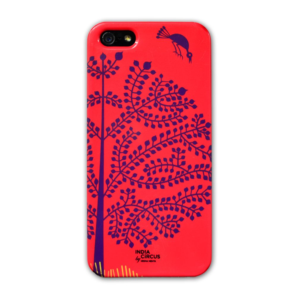 Jalebi Purple Tree Warli iPhone 5 case