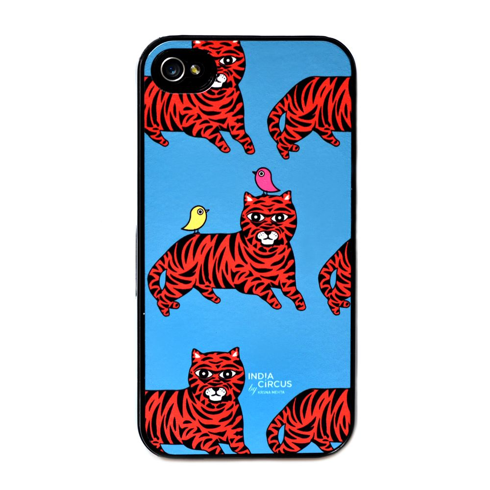Jalebi Tiger-with-Birds Iphone 4 case