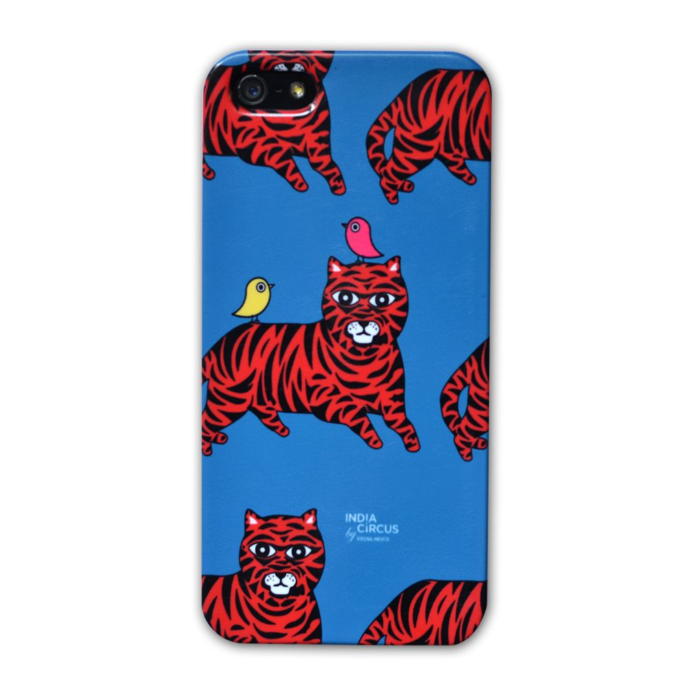 Jalebi Tiger-with-Birds iPhone 5 case