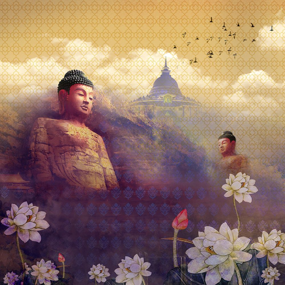Buddha's Heart Sutra - Warm Wallpaper