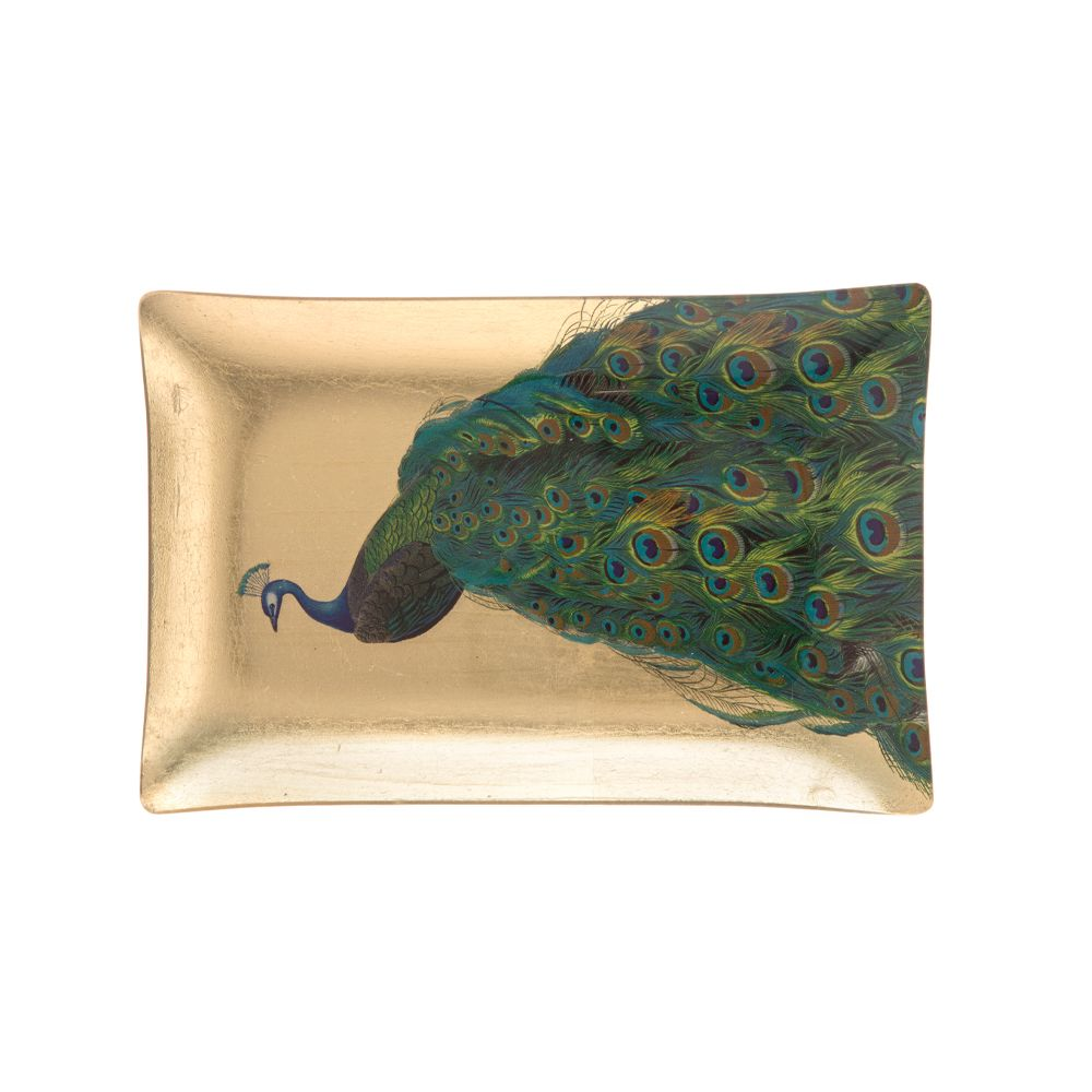 Kuheli Peacock Tapestry Garden Decorative Platter