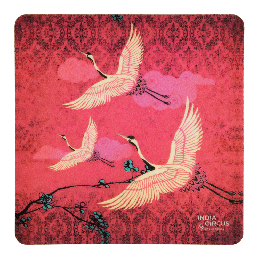 Legend of the Cranes Rubber Coasters - (Set of 6)