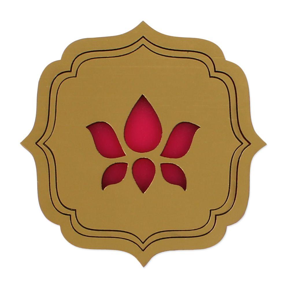 Mahogany Wink Lotus Coasters