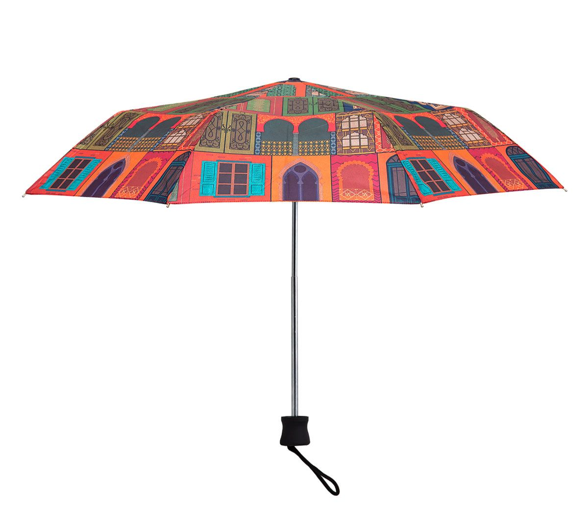 India Circus Mughal Doors Reiteration 3 Fold Umbrella