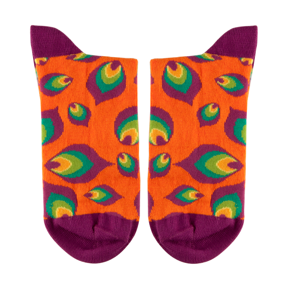 Multi-coloured Leaf Motif Socks