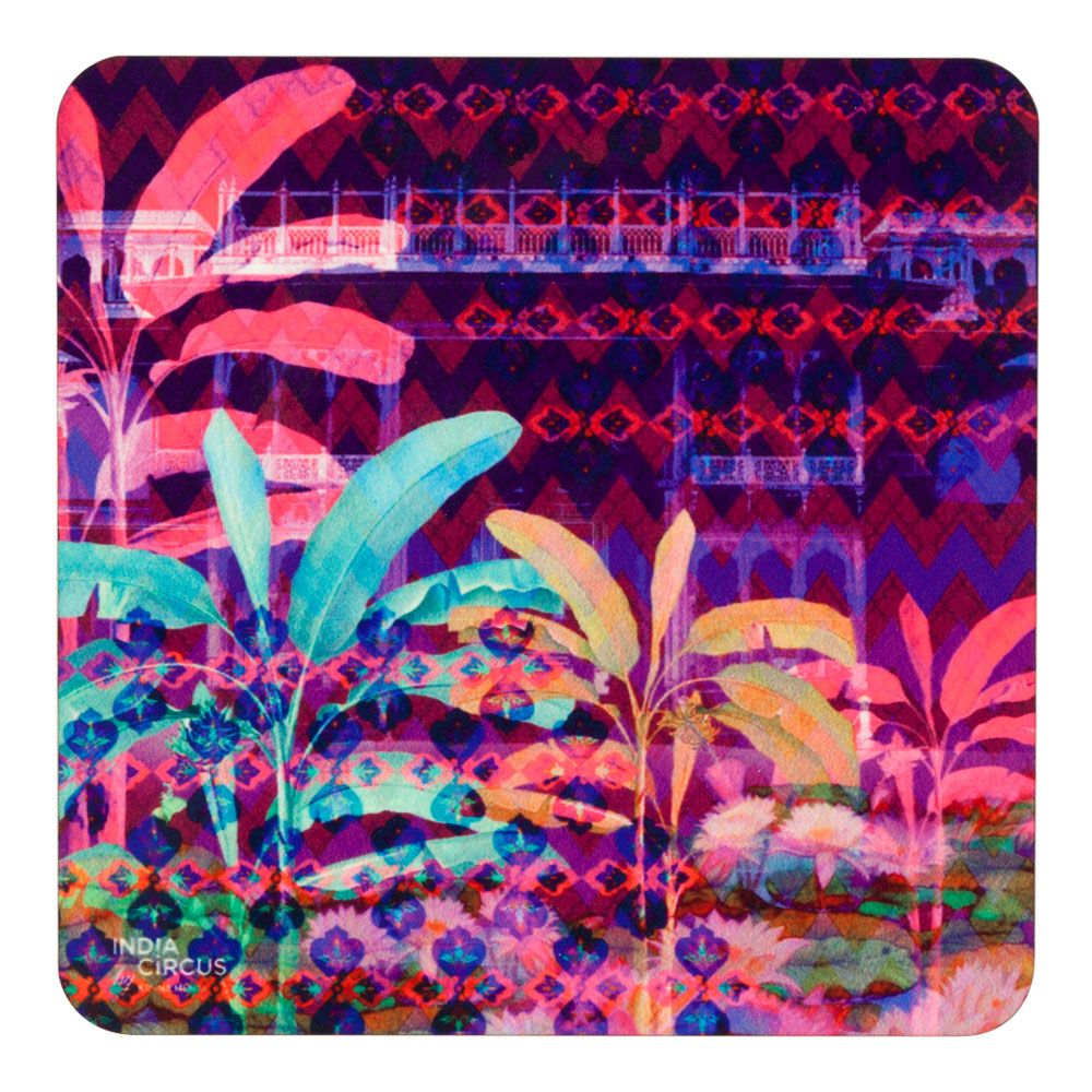 Neon Paradise MDF Coaster - (Set of 6)