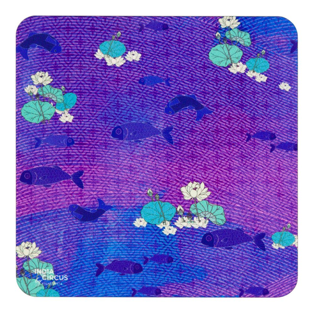 Oasis of Koi MDF Coaster - (Set of 6)