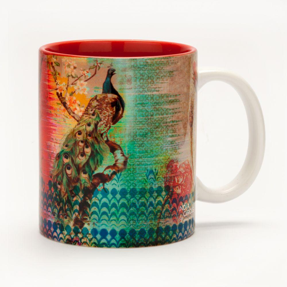 Peacock Flower Mug