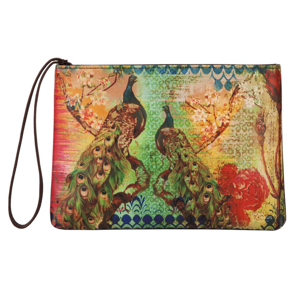 Peacock Flower Utility Pouch